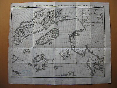 1819 - ZENO Brothers Travels - NORTHERN ATLANTIC  Iceland Frisland