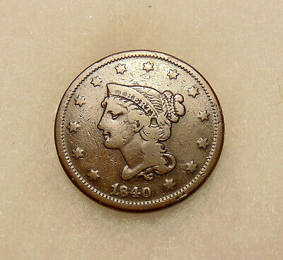 "18/1840 Large Cent - Scarce N-2 Lg/Sm ""18"" RPD Variety - Nice Looking Coin"