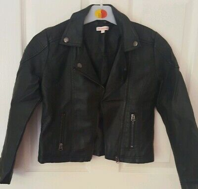 Girls Bluezoo Leather Style Jacket Age 9