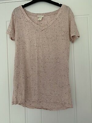 In Fab Condition Ladies/Girls Pink And Black T-shirt From H&M Size XS