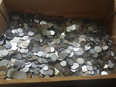 BULK WORLDWIDE MIXED CIRCULATED VINTAGE COINS 1kg or 3kg Free P&P to UK