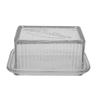Vintage Style Pressed Glass Butter Dish Farmhouse Style