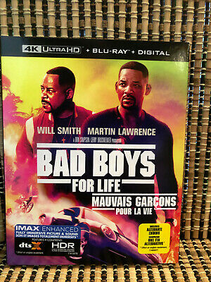 Bad Boys For Life 4K (1-Disc Blu-ray, 2020)+Slipcover.Will Smith/Lawrence.Part 3