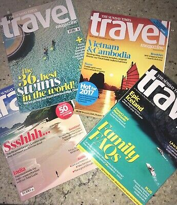 The Sunday Times Travel Magazines Issues 124. 156, 161, 162