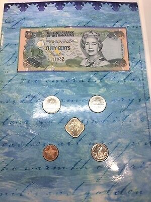 The Central Bank Of Bahamas Coin / Note Set