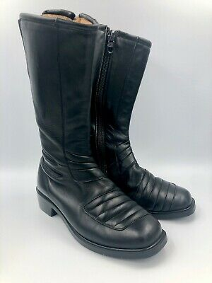 Vintage BMW Motorcycle Boots Leather Size 39