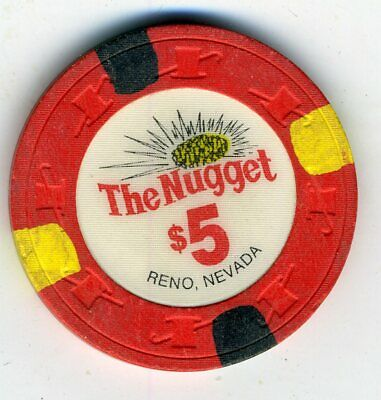 Obsolete $5 chip from The Nugget, downtown Reno