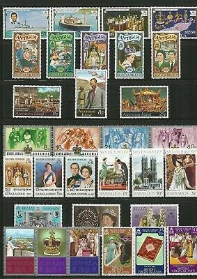 Queen Elizabeth 1977 Silver Jubilee Fine  Mint Collection With Mini Sheets,Etc