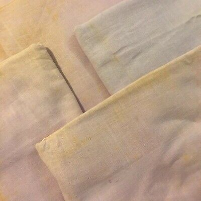 Vtg Lot FIVE 38x42 Cotton Feedsack Quilt Fabric Solid Light Purple CUTTERS
