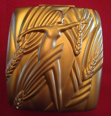Vintage Estee Lauder Gold Tone Powder Compact.  Beautiful condition, empty