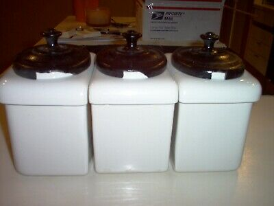 Rare Bar-Soda Fountain Containers-Topping/Fruit/Syrup Porcelain Jars/Canisters