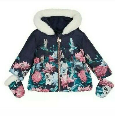Ted Baker Baby Girls Coat / Jacket Quilted Shower Resistant with sizes.