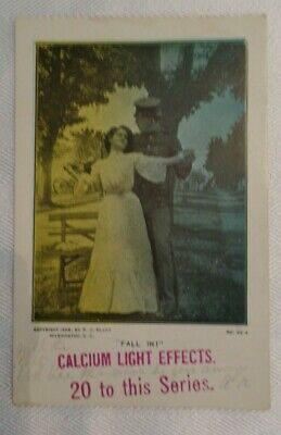 POSTCARDS VINTAGE 1 postmarked 1906 Calcium light effects military free shipping