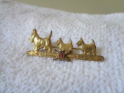 WW1 US Army Military Coast Artillery Distinctive Enamel Crest Scotty Dogs