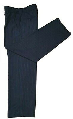 Marks And Spencer Boy's Blue Pin Stripe Suit Trousers Age 8 Years