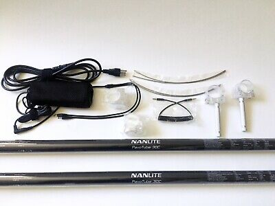 Nanlite PavoTube 30C (2x) RGBWW 4' LED Tube Light Kit - Great Shape, Used twice!