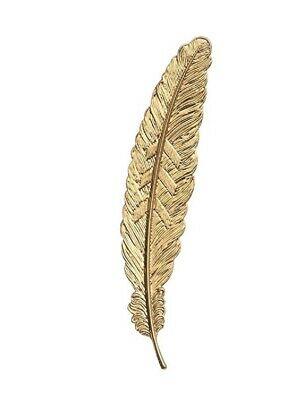 Beautiful Vintage Inspired Gold Metal Feather Bookmark. Great Gift Idea