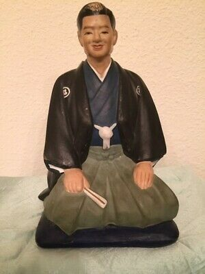 Vintage Rare Japanese Hakata Urasaki Clay Doll Groom Man Figurine Japan