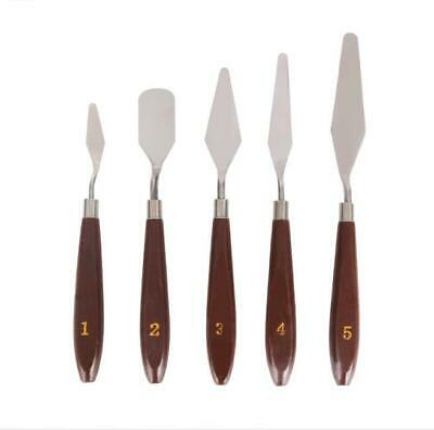 Artist Stainless Steel Palette Knives Spatulas Painting Metal Pallet Knife 5Pcs