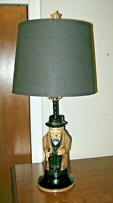 Vintage Winston Churchill Pitcher Lamp, Electric Tabletop, Free Shipping