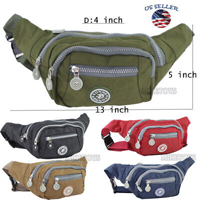 Fanny Pack Men Women Waist Belt Bag Purse Hip Pouch Travel Sport Bum (6307)