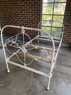 Real cast iron bed size single