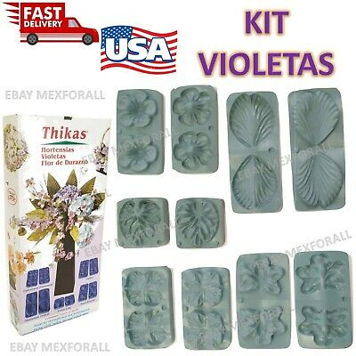 Flower Molds 3D Foam Craft Moldes Flores Foamy Eva foam MODEL VIOLETAS HORTENSIA