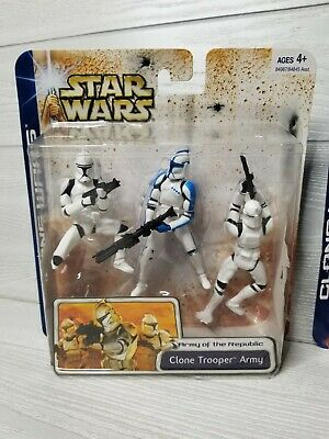 STAR WARS ARMY OF THE REPUBLIC Clone Trooper Army: ARMY BUILDER! Blue