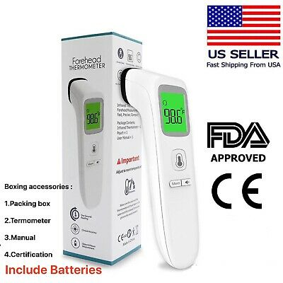 FDA Approved Non-Contact Infrared Medical Grade Laser Thermometer With Batteries
