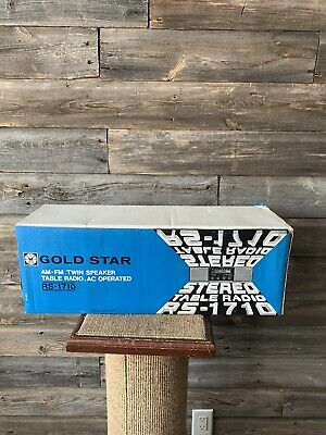 Vintage Gold Star RS-1710 AM/FM Twin Speaker Table Top Radio Made In Korea