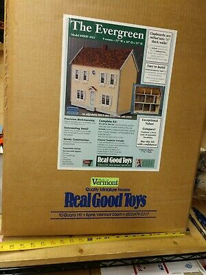 "Real Good Toys "" THE EVERGREEN DOLLHOUSE "" Kit in 1"" scale"