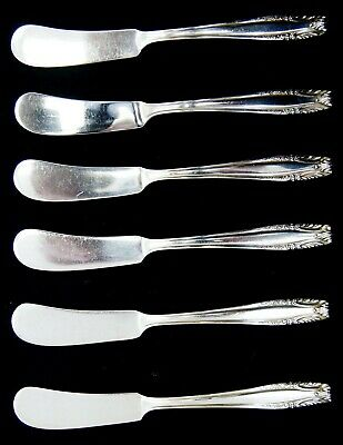 "Lot Of 6 Wallace STRADIVARI Sterling Silver Butter Spreaders 6"" (5148)"