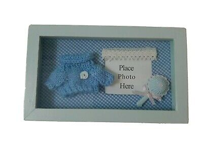 Baby Photograph Picture Frame Shadow Box Keepsake
