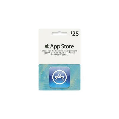 iTunes $25 Gift Card/Certificate US Store App Store Fast Ship