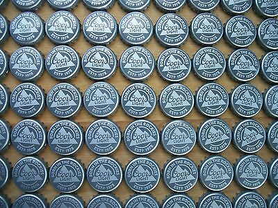 100 Coors Light Born In The Rockies Beer  Bottle Caps (Crafts)