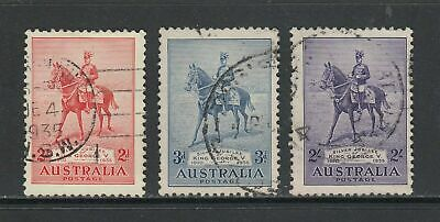 Australia: 1935 George V Silver Jubilee Set of 3 Stamps SG156-158 Used CY006