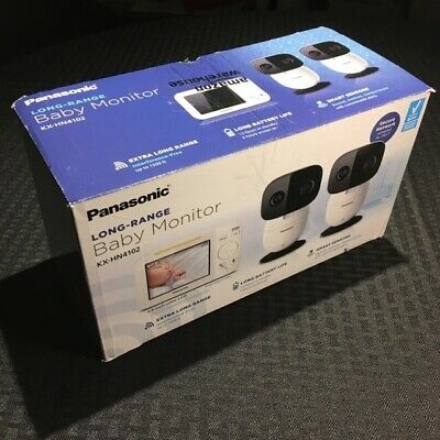 Panasonic Long Range Baby Monitor with 2 Camera Bundle, Audio/Video RARE & HTF