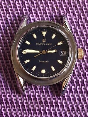 Universal Geneve Diver  Old Stock, All Steel Case, Eta 2892-A2.