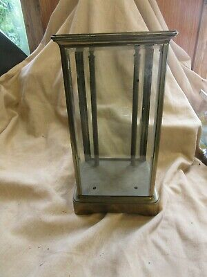 Antique Brass and Glass Clock Case and Movement