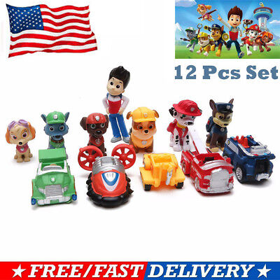 PAW Patrol Dog Puppy Rescue Movie Character Toys For Kids Collection 12 pcs
