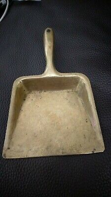 Small vintage solid brass hand shovel