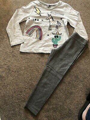 Next Girls Unicorn/rainbow Outfit 3-4 Years