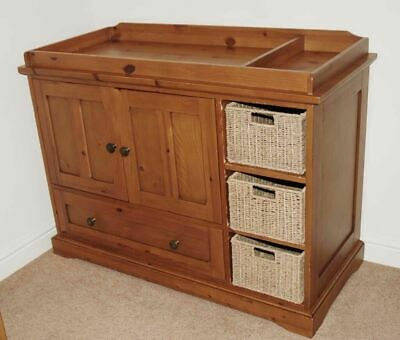 Mamas and Papas Baby Change Table,Clothes Dresser Unit,Solid Wood,Storage Basket