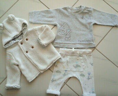 Baby boy girl 3-6 months bundle cardigan, teddy set Marks and Spencer