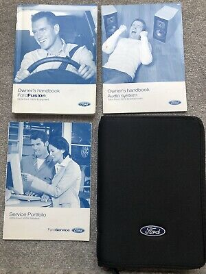 05-12 FORD FUSION OWNERS HANDBOOK MANUAL PACK Audio & WALLET 2005