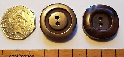 Pair of vintage buttons  brown plastic material