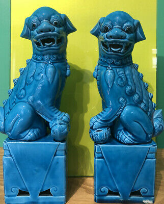 Pair of tall dogs of foo  - Superb condition.