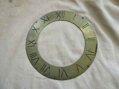 Clock Dial of Brass, Chapter Ring with Engraved Roman Numerals