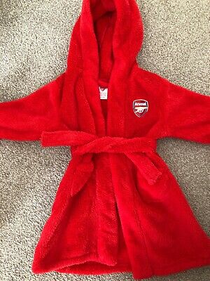 Baby Boy Dressing Gown 6-12 Months Arsenal Red