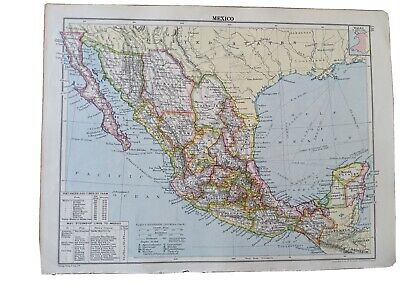 Map of Mexico From Cassells New Atlas